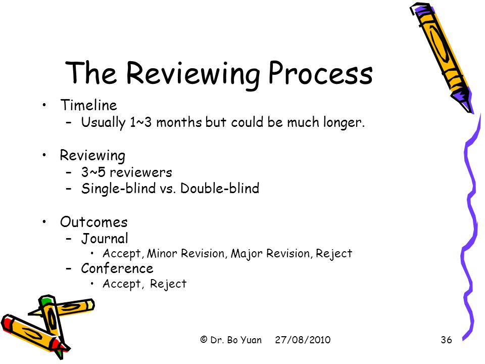 The Reviewing Process Timeline Reviewing Outcomes