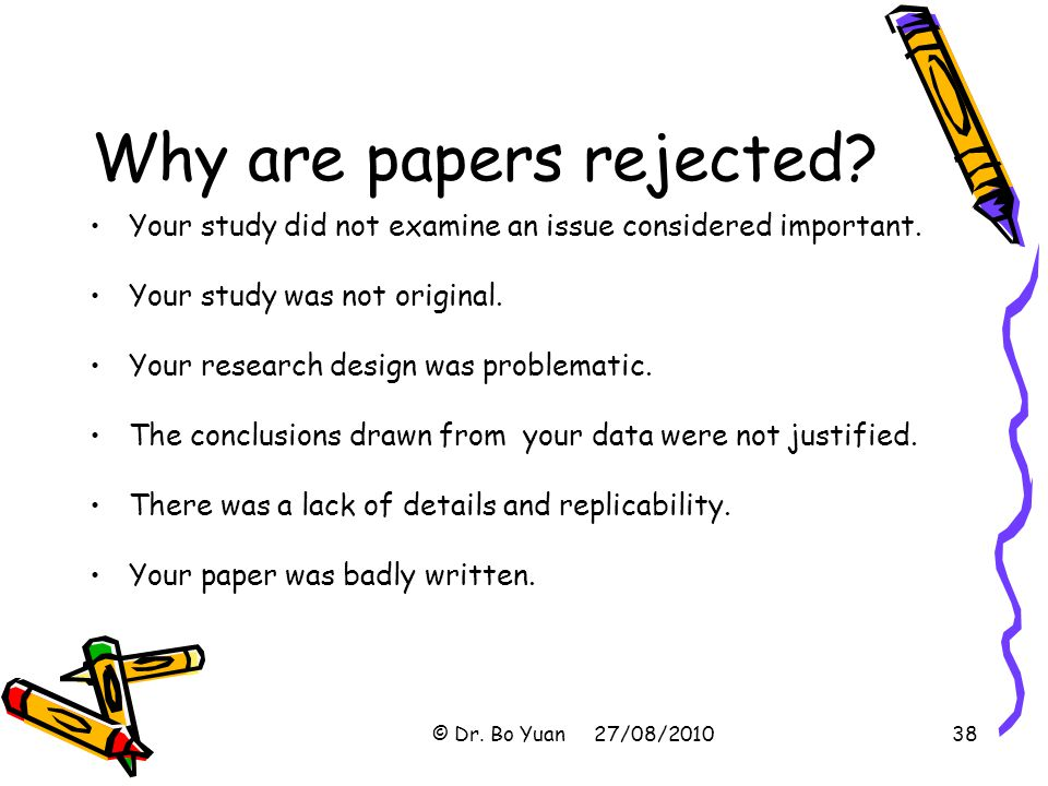 Why are papers rejected