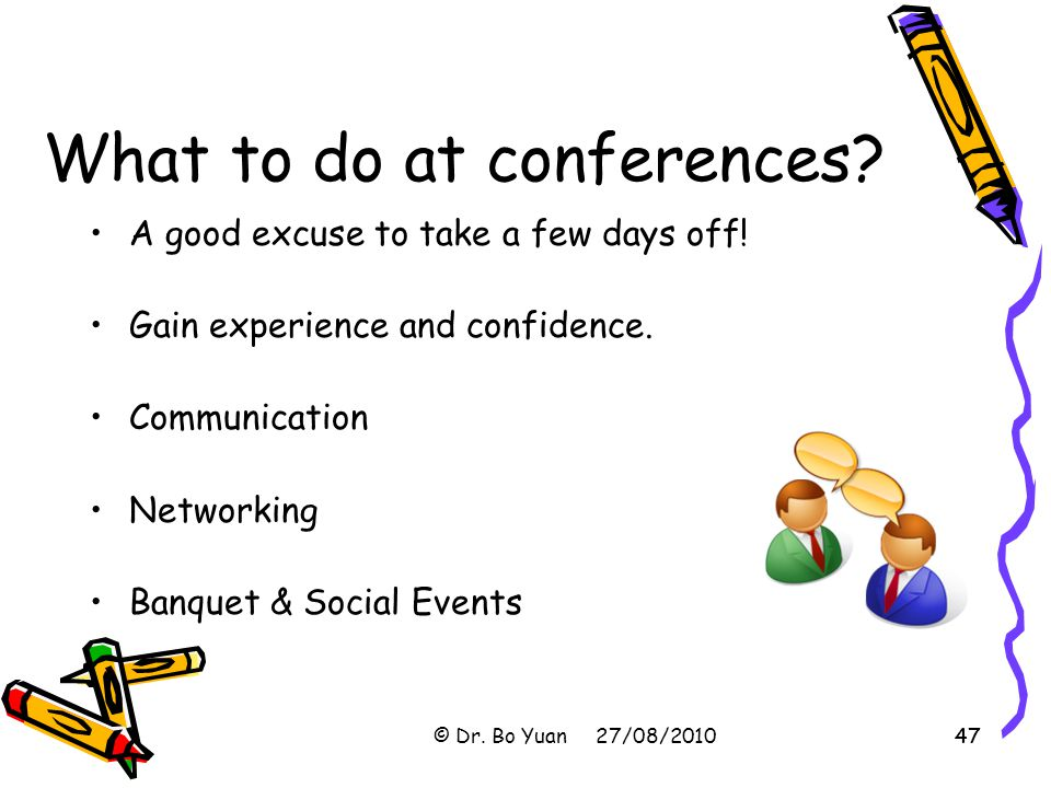What to do at conferences