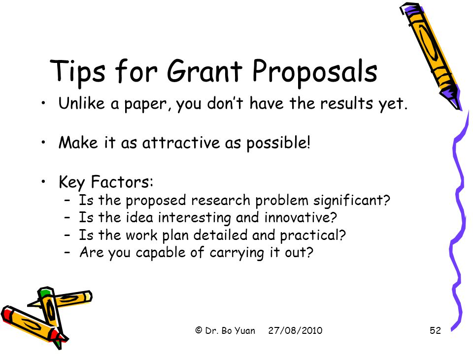 Tips for Grant Proposals