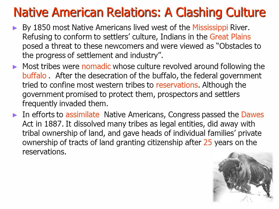 Native American Relations: A Clashing Culture