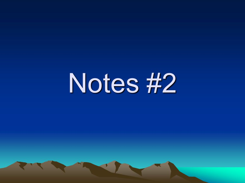 Notes #2
