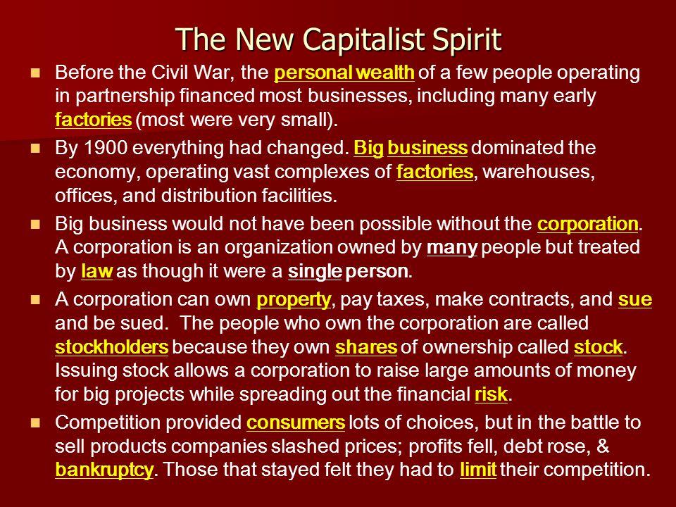 The New Capitalist Spirit