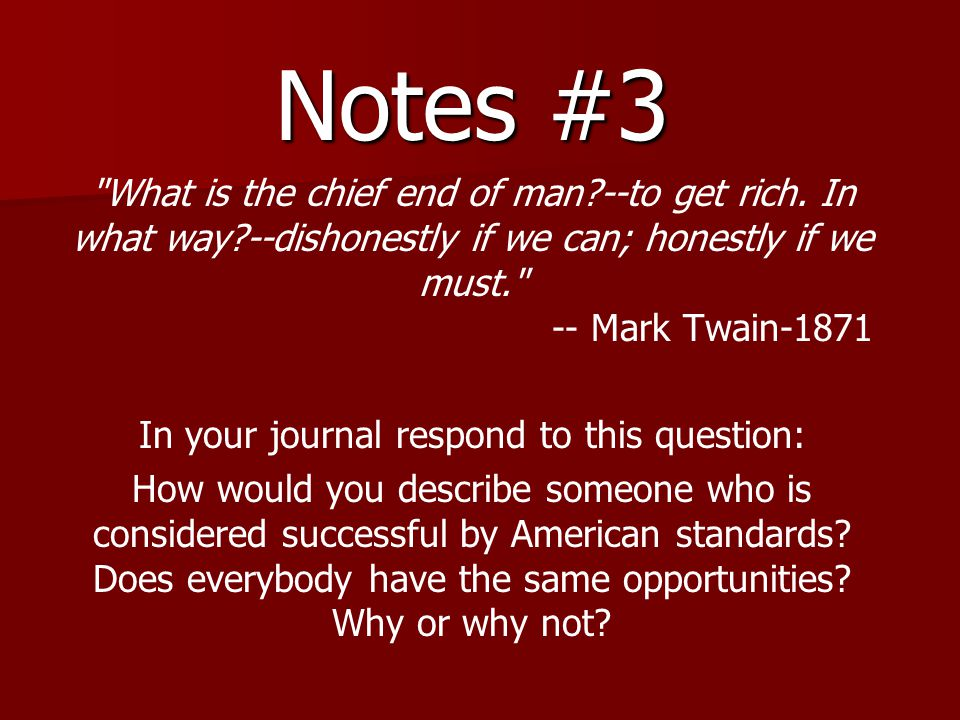 In your journal respond to this question: