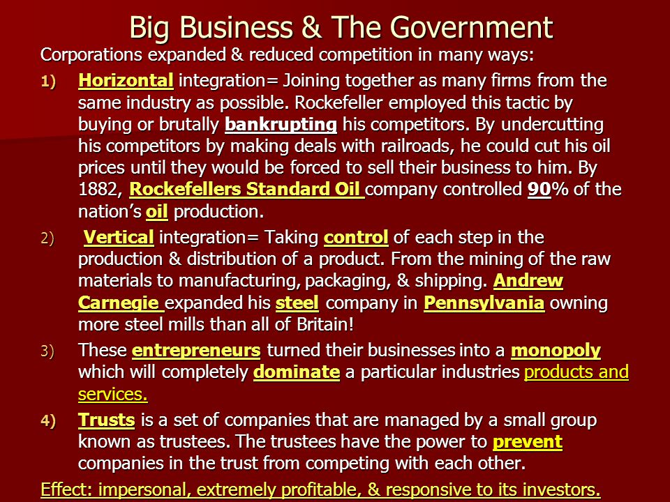 Big Business & The Government