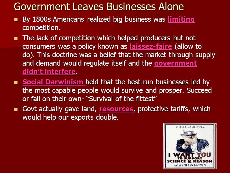 Government Leaves Businesses Alone