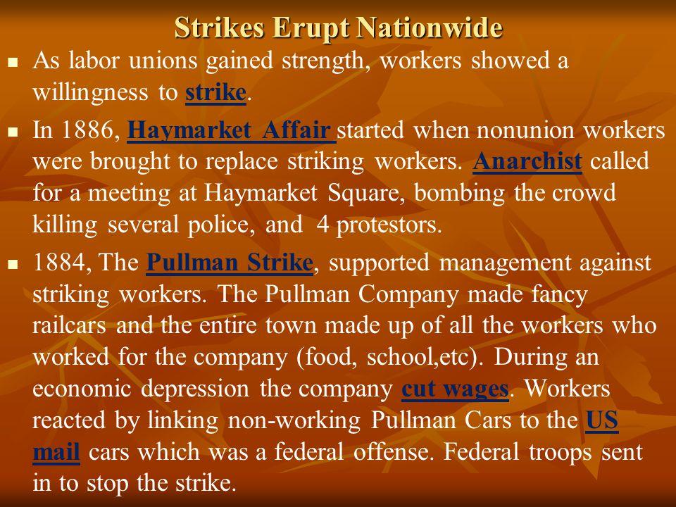 Strikes Erupt Nationwide