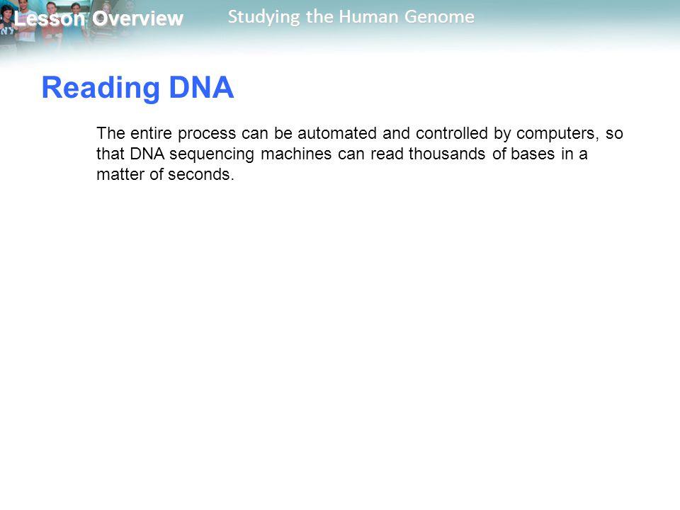 Reading DNA