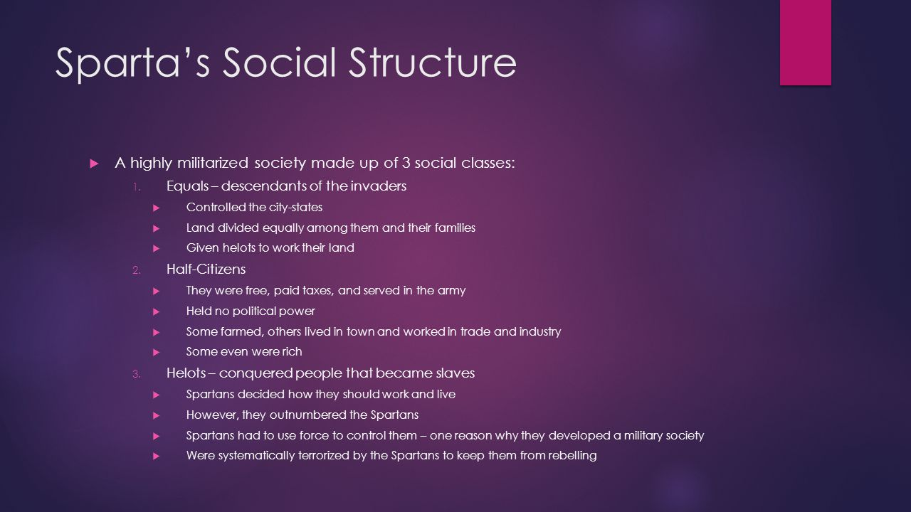 Sparta's Social Structure