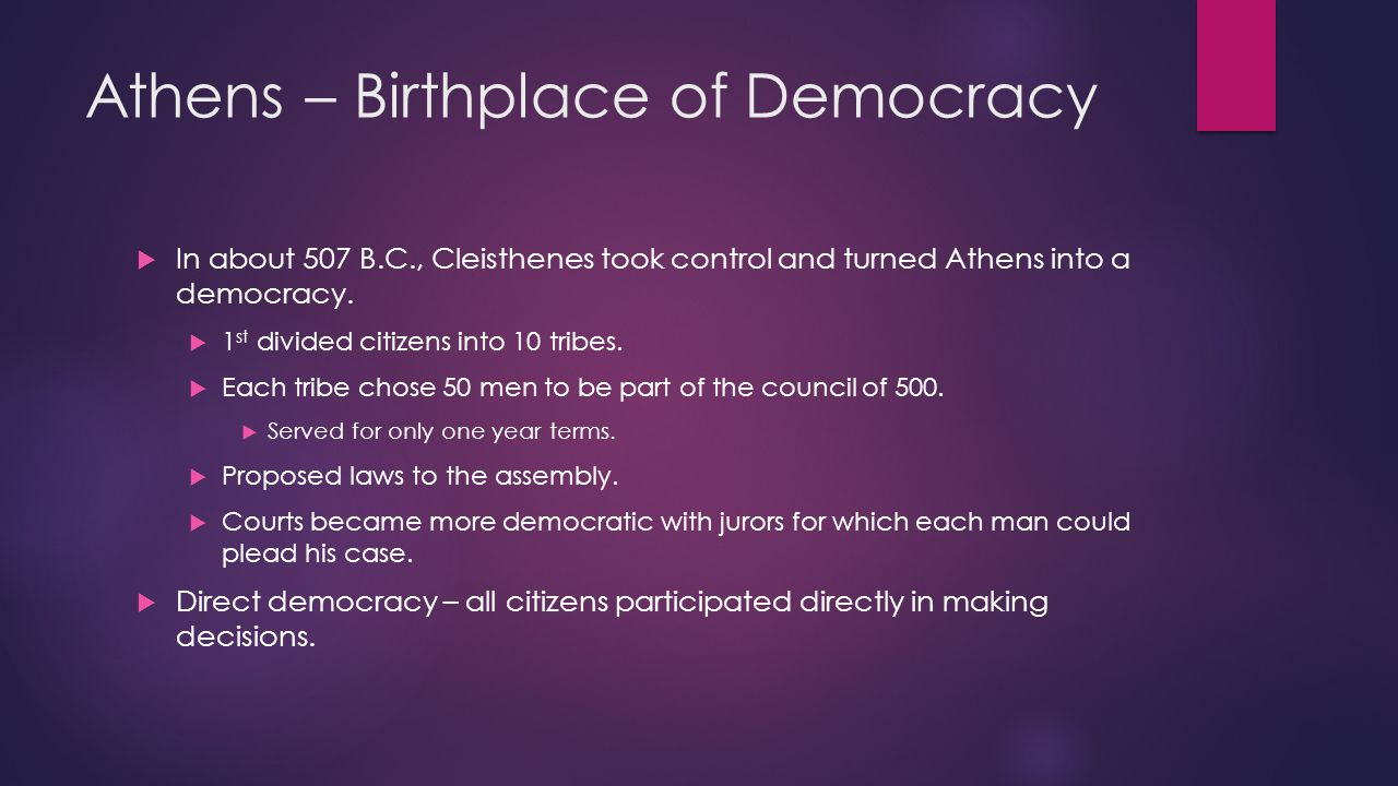 Athens – Birthplace of Democracy