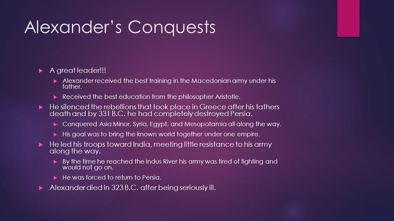 Alexander's Conquests