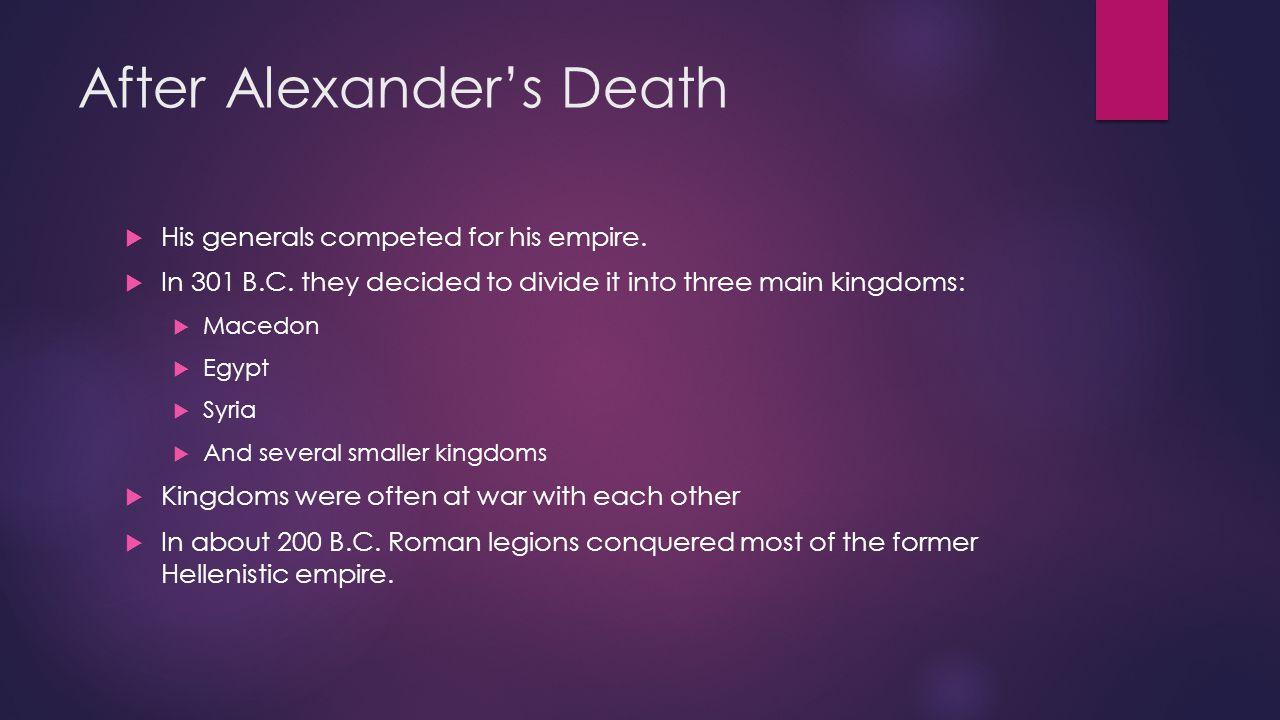 After Alexander's Death