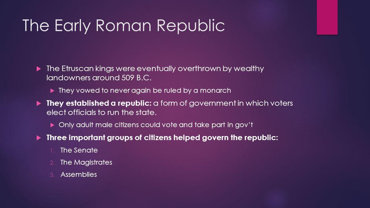 The Early Roman Republic