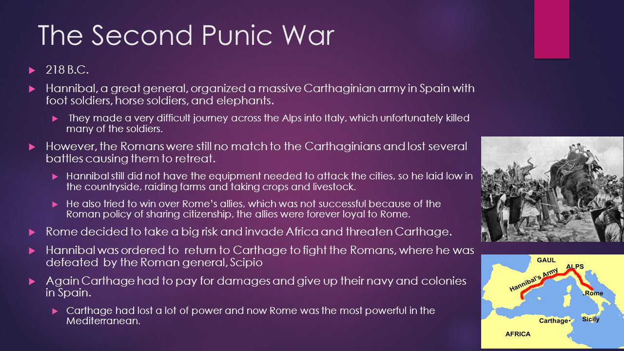 The Second Punic War 218 B.C.