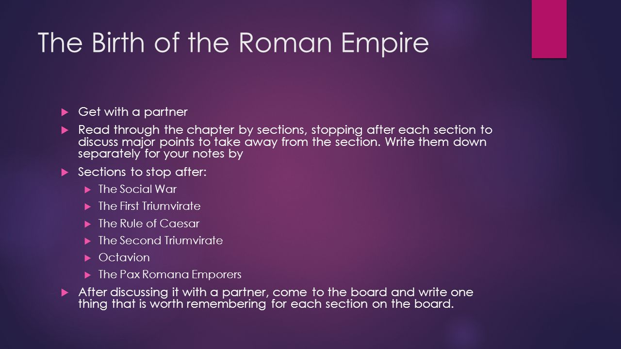 The Birth of the Roman Empire