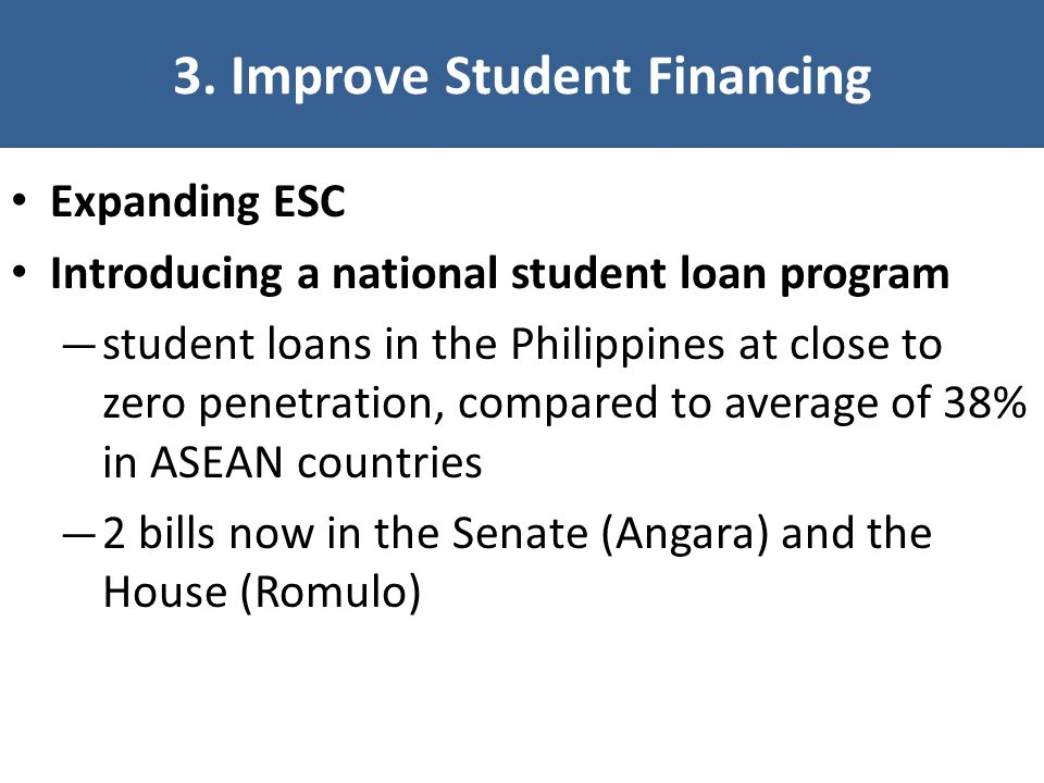 3. Improve Student Financing