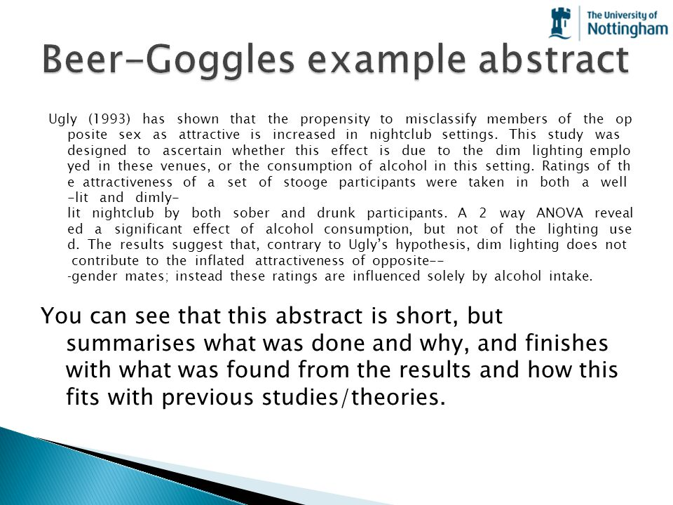 Beer-Goggles example abstract