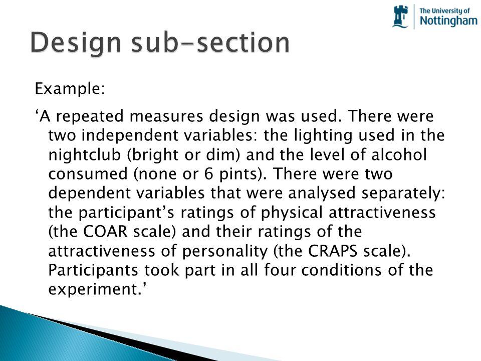 Design sub-section