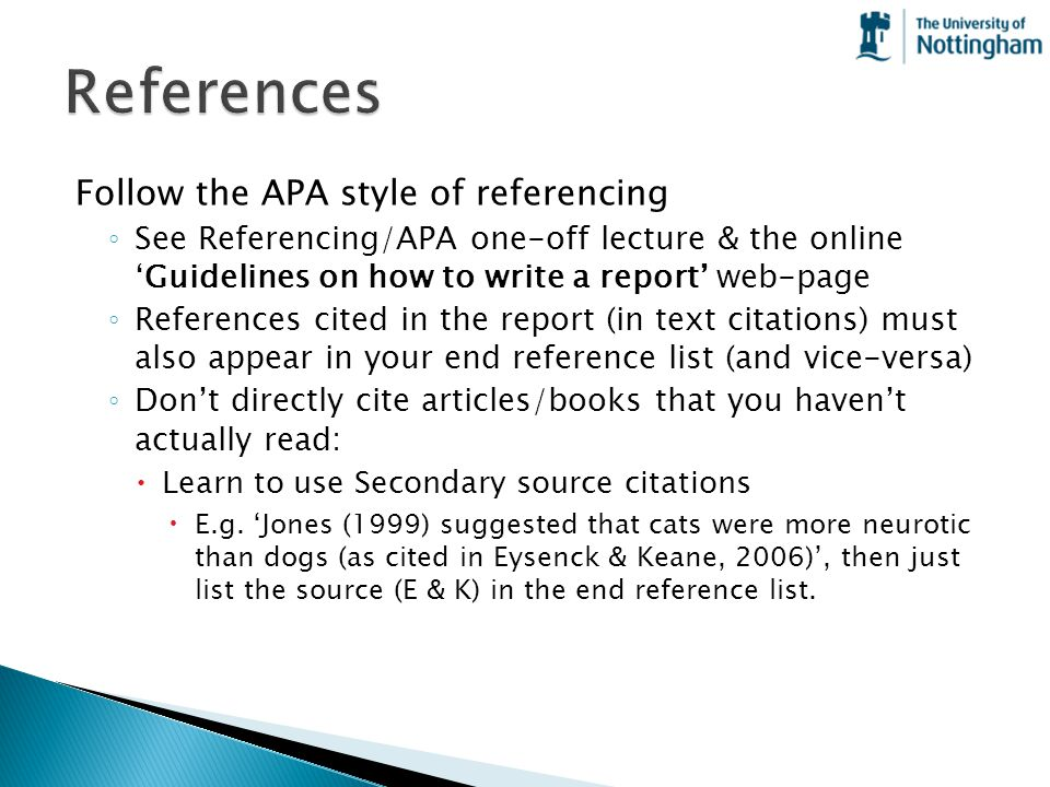 References Follow the APA style of referencing