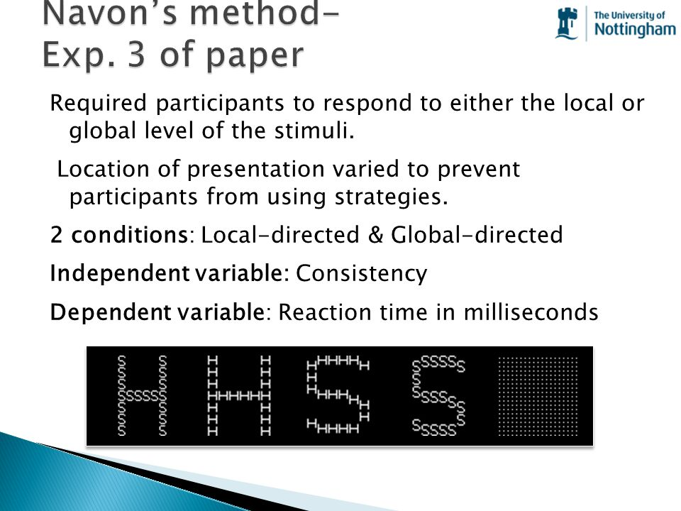 Navon's method- Exp. 3 of paper