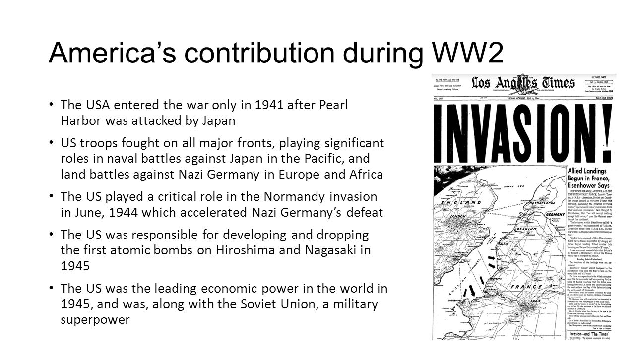 America's contribution during WW2