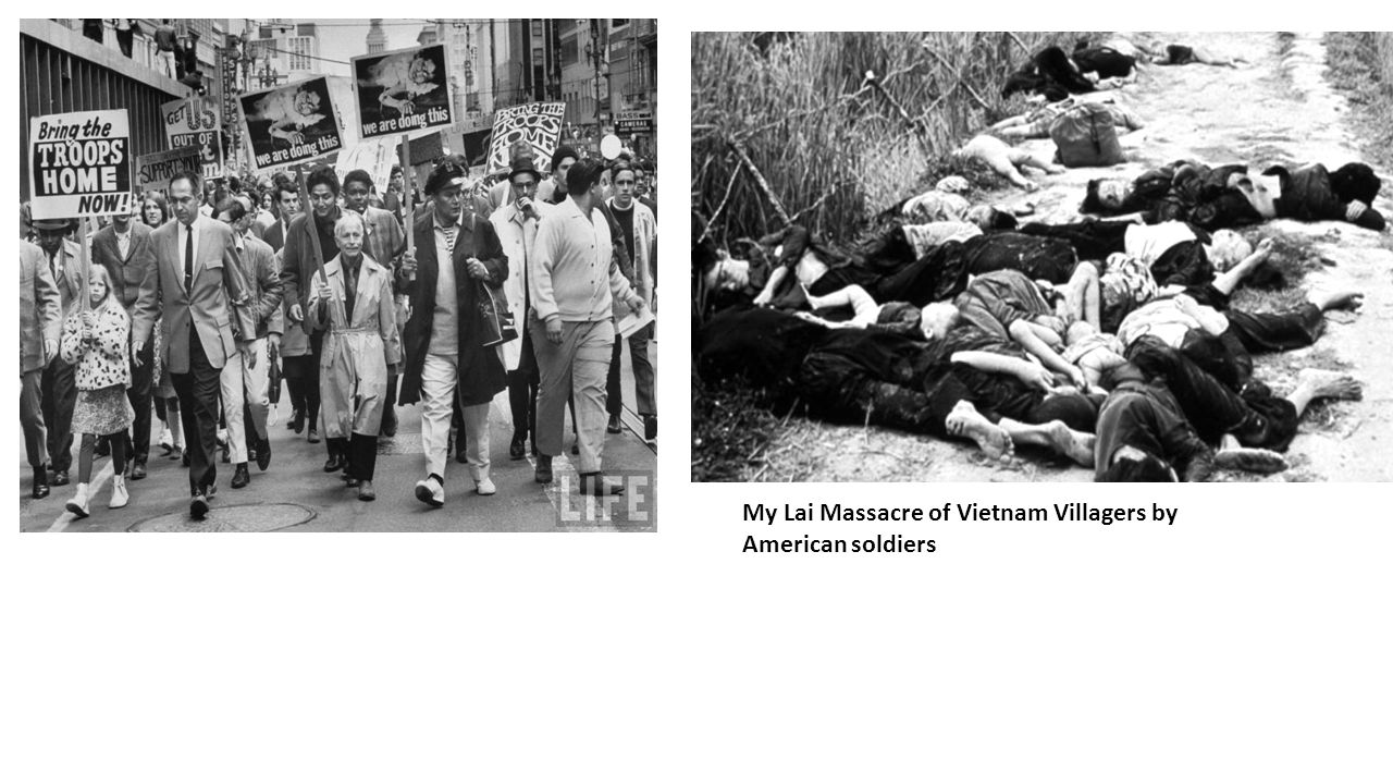My Lai Massacre of Vietnam Villagers by American soldiers