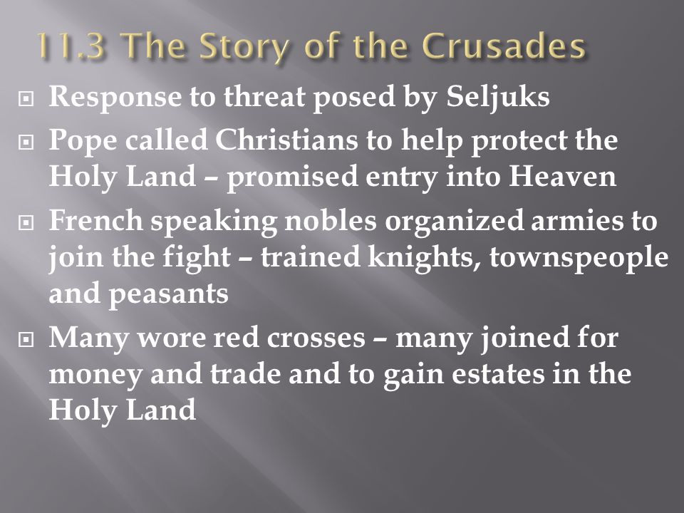 11.3 The Story of the Crusades