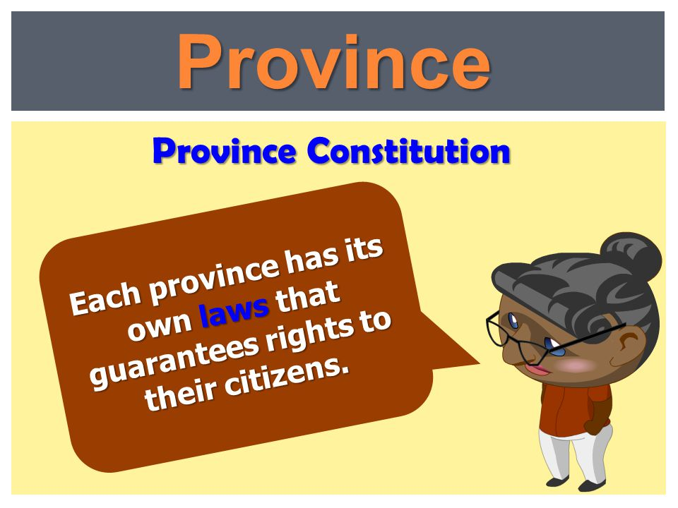 Province Constitution