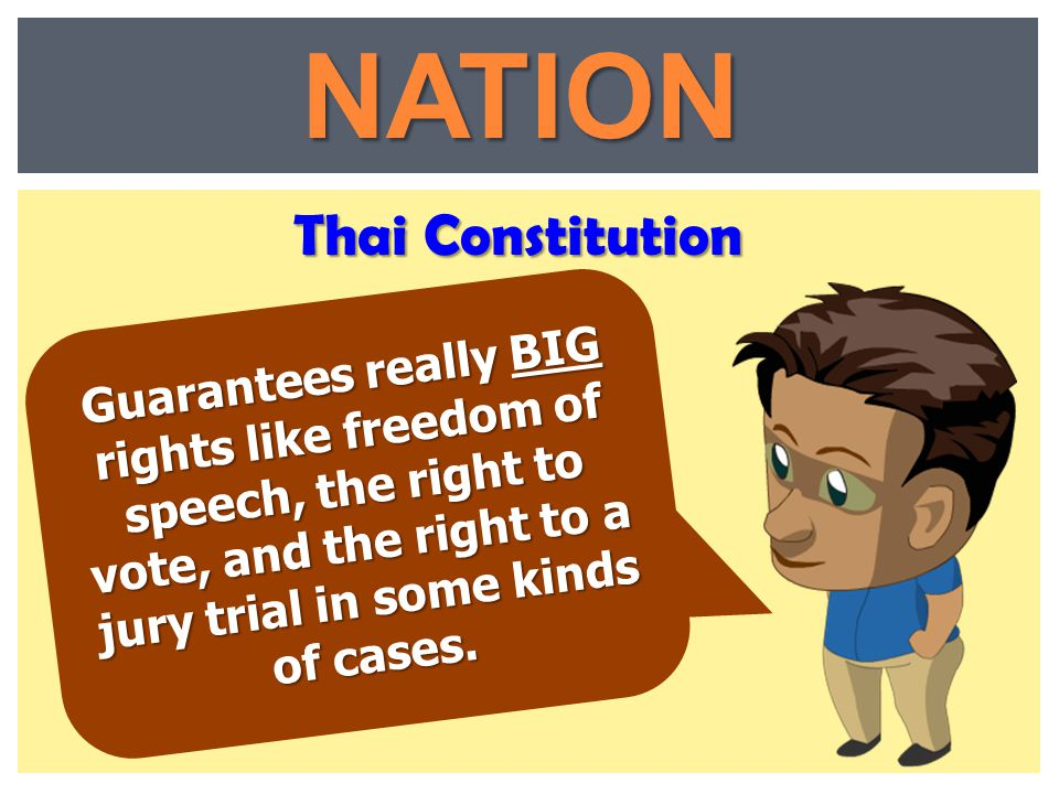 NATION Thai Constitution