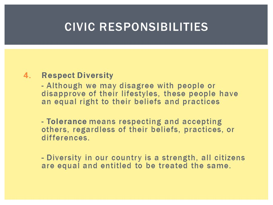 Civic Responsibilities