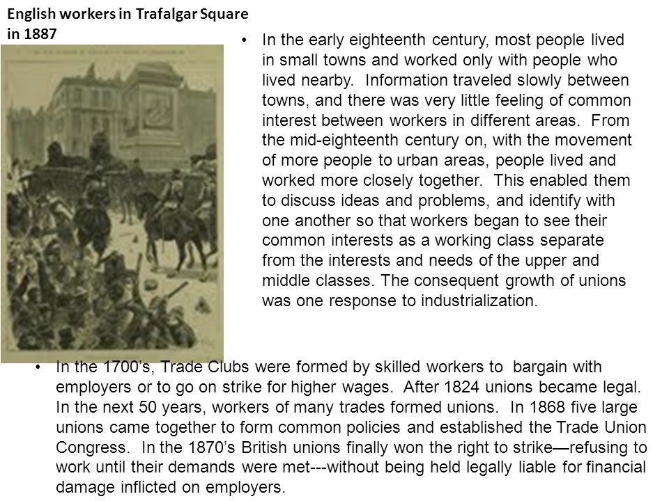 English workers in Trafalgar Square in 1887
