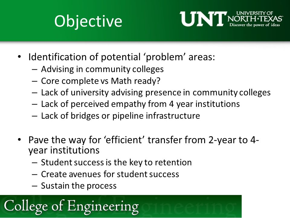 Objective Identification of potential 'problem' areas: