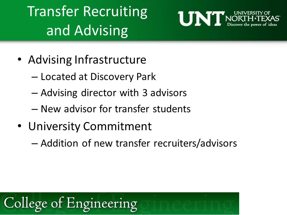 Transfer Recruiting and Advising