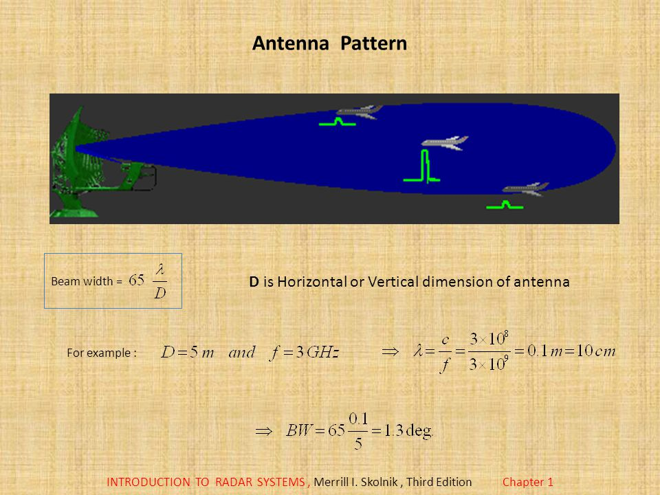 D is Horizontal or Vertical dimension of antenna