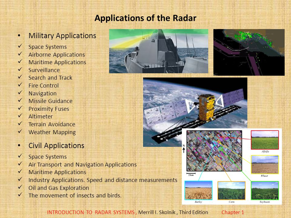 Applications of the Radar