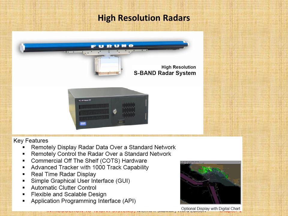 High Resolution Radars