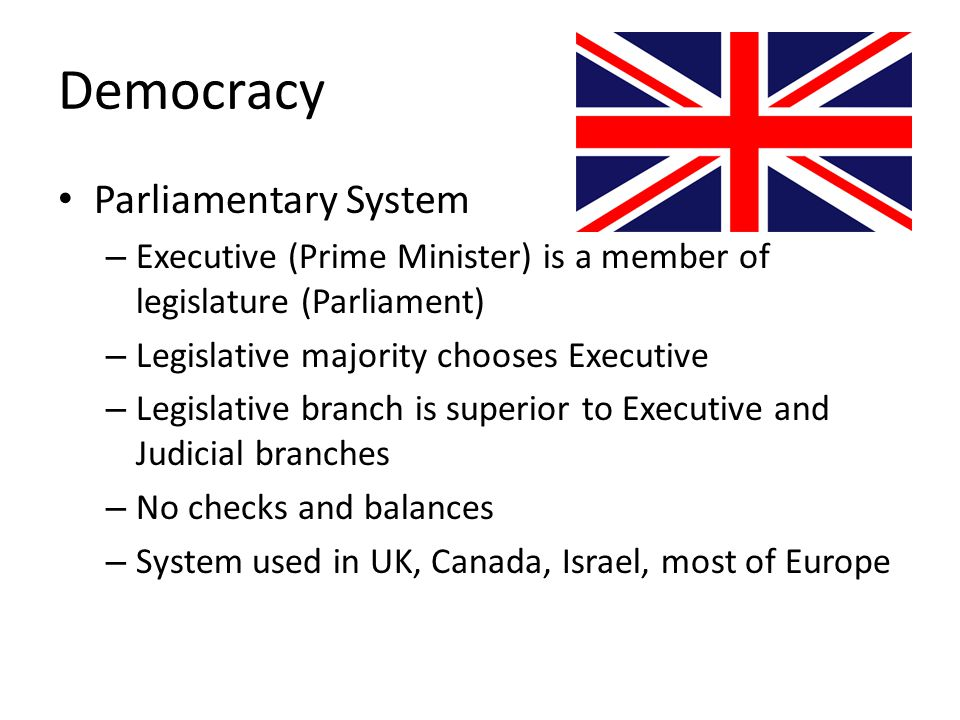 Democracy Parliamentary System