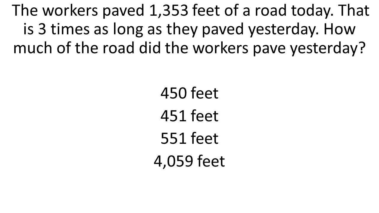 The workers paved 1,353 feet of a road today