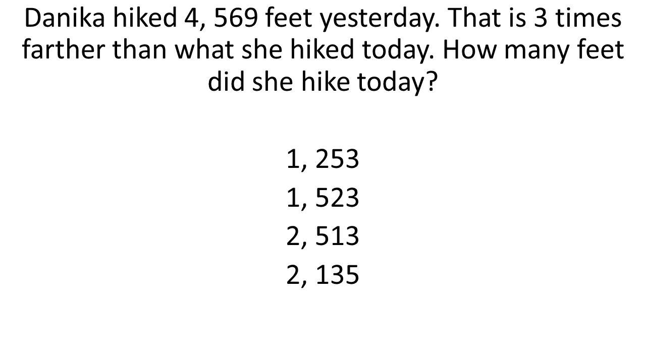 Danika hiked 4, 569 feet yesterday