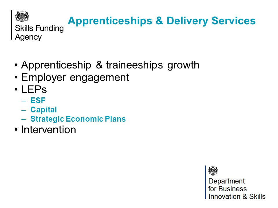 Apprenticeships & Delivery Services