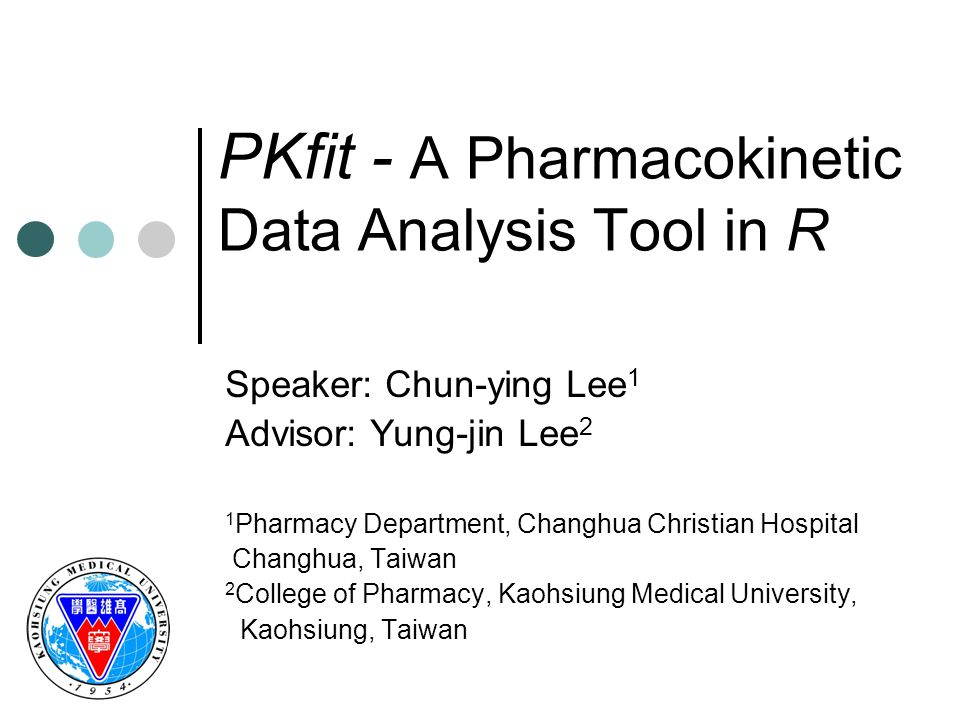 PKfit - A Pharmacokinetic Data Analysis Tool in R