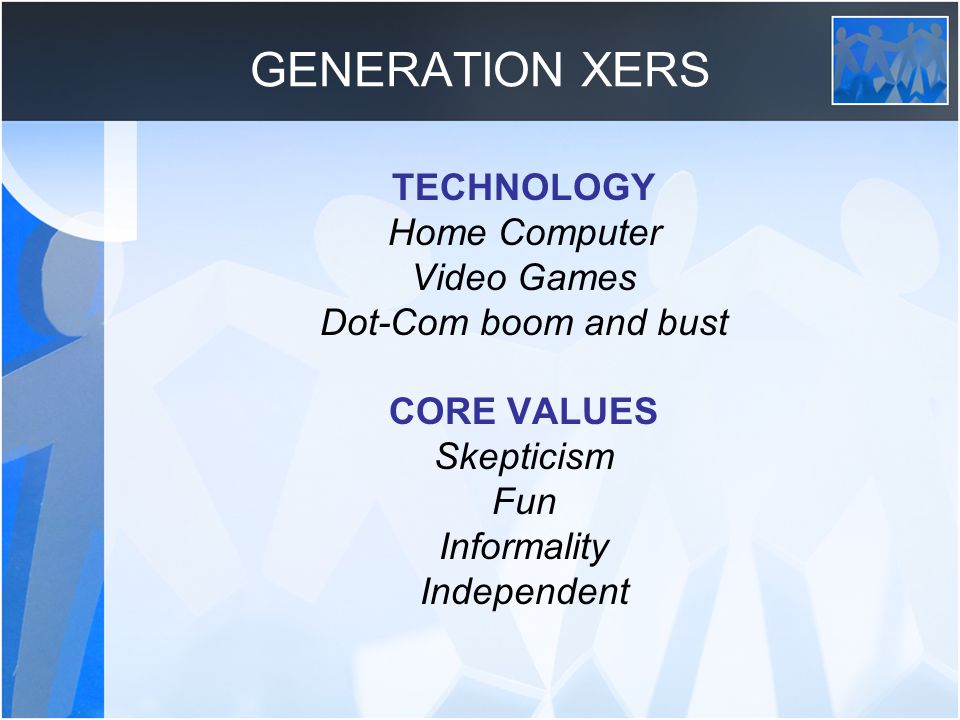 GENERATION XERS TECHNOLOGY Home Computer Video Games