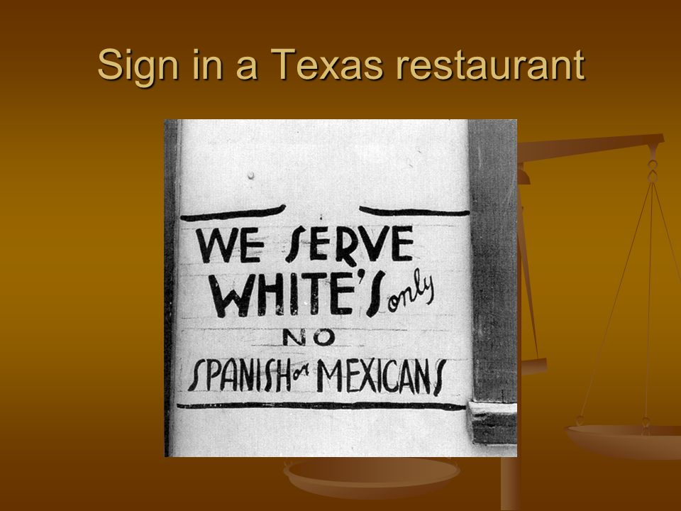 Sign in a Texas restaurant