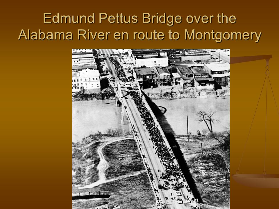 Edmund Pettus Bridge over the Alabama River en route to Montgomery