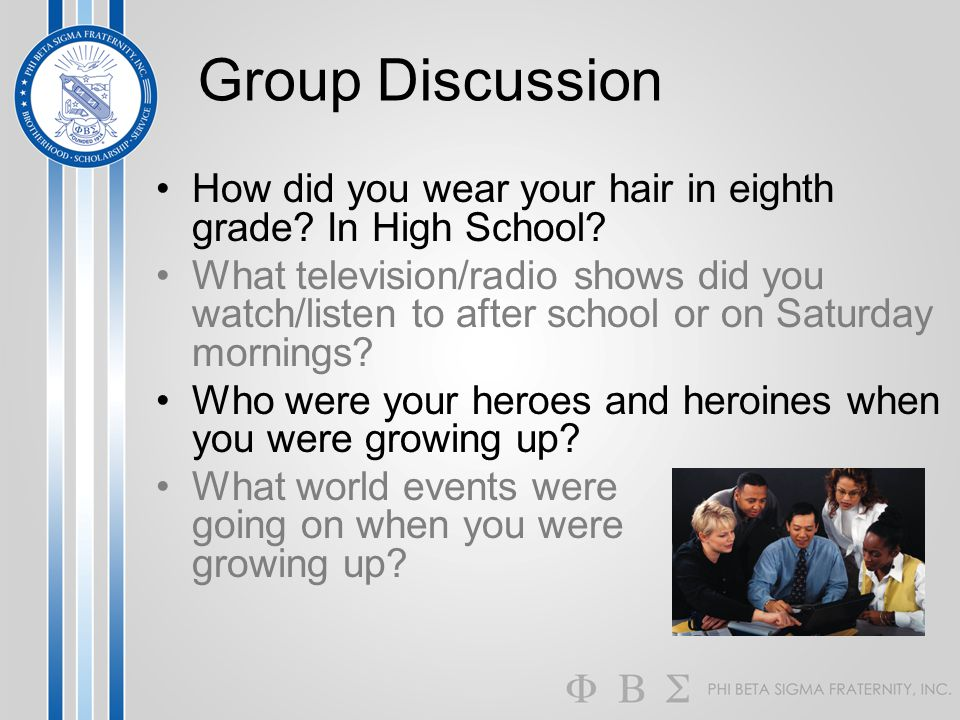 Group Discussion How did you wear your hair in eighth grade In High School