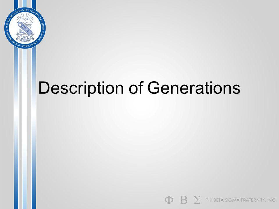 Description of Generations