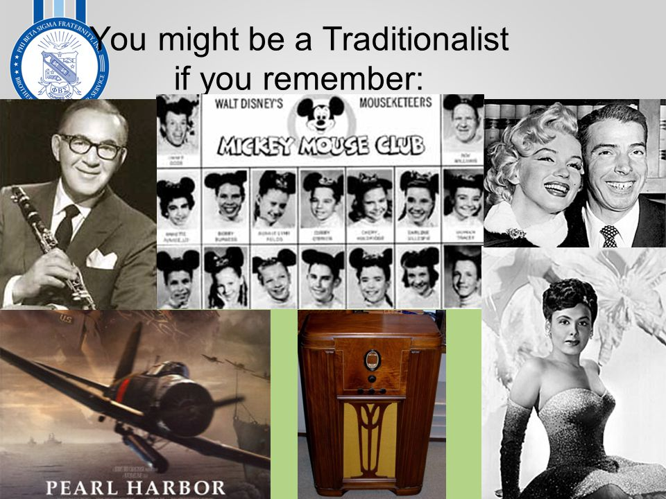 You might be a Traditionalist if you remember: