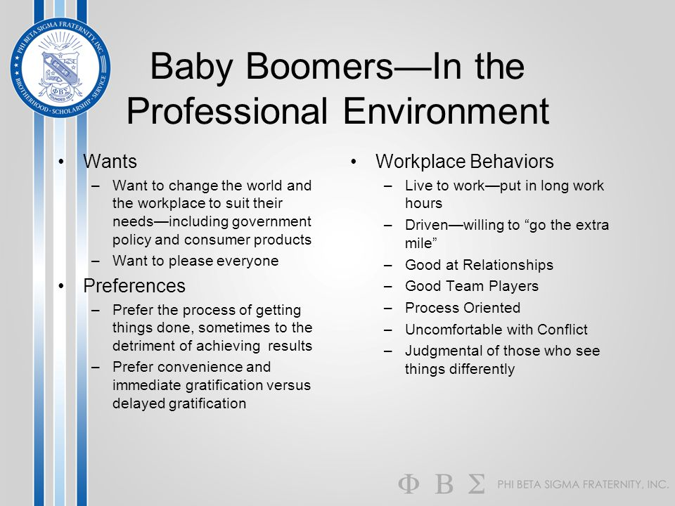 Baby Boomers—In the Professional Environment
