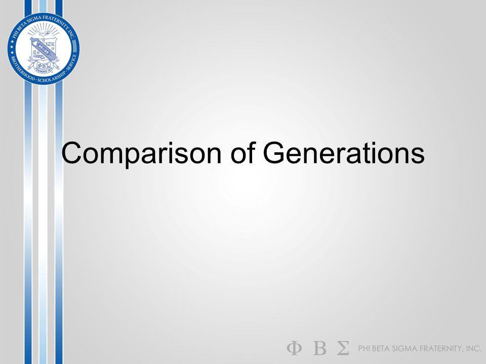 Comparison of Generations