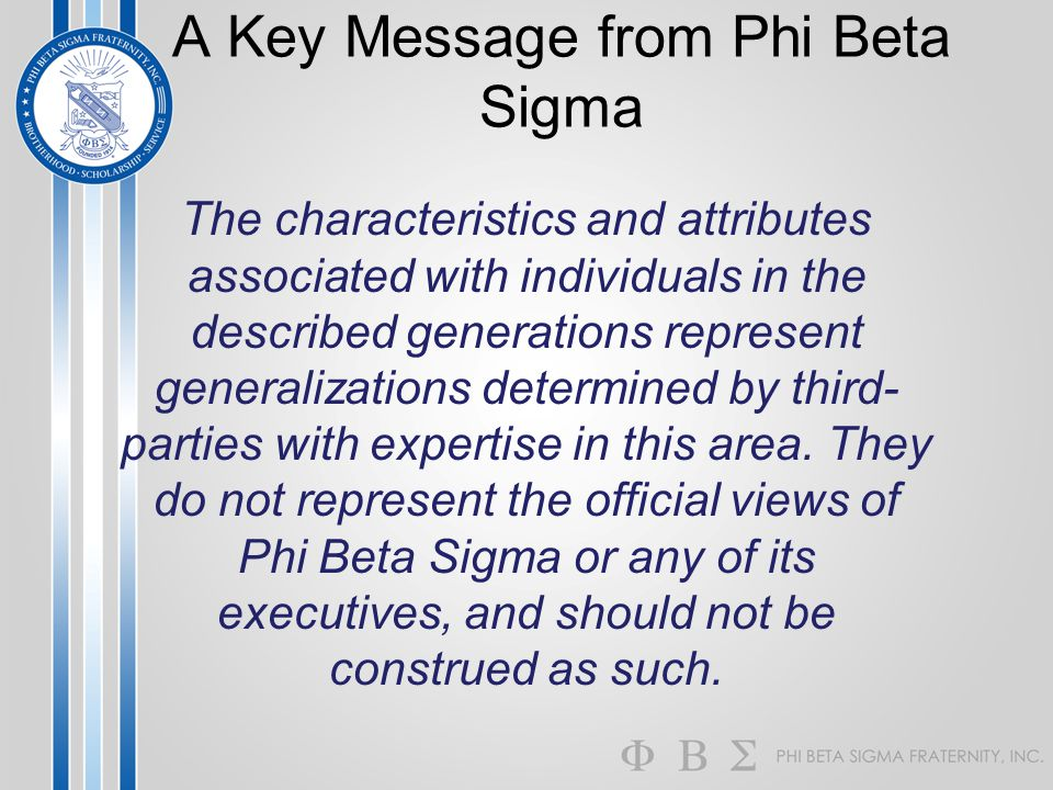 A Key Message from Phi Beta Sigma